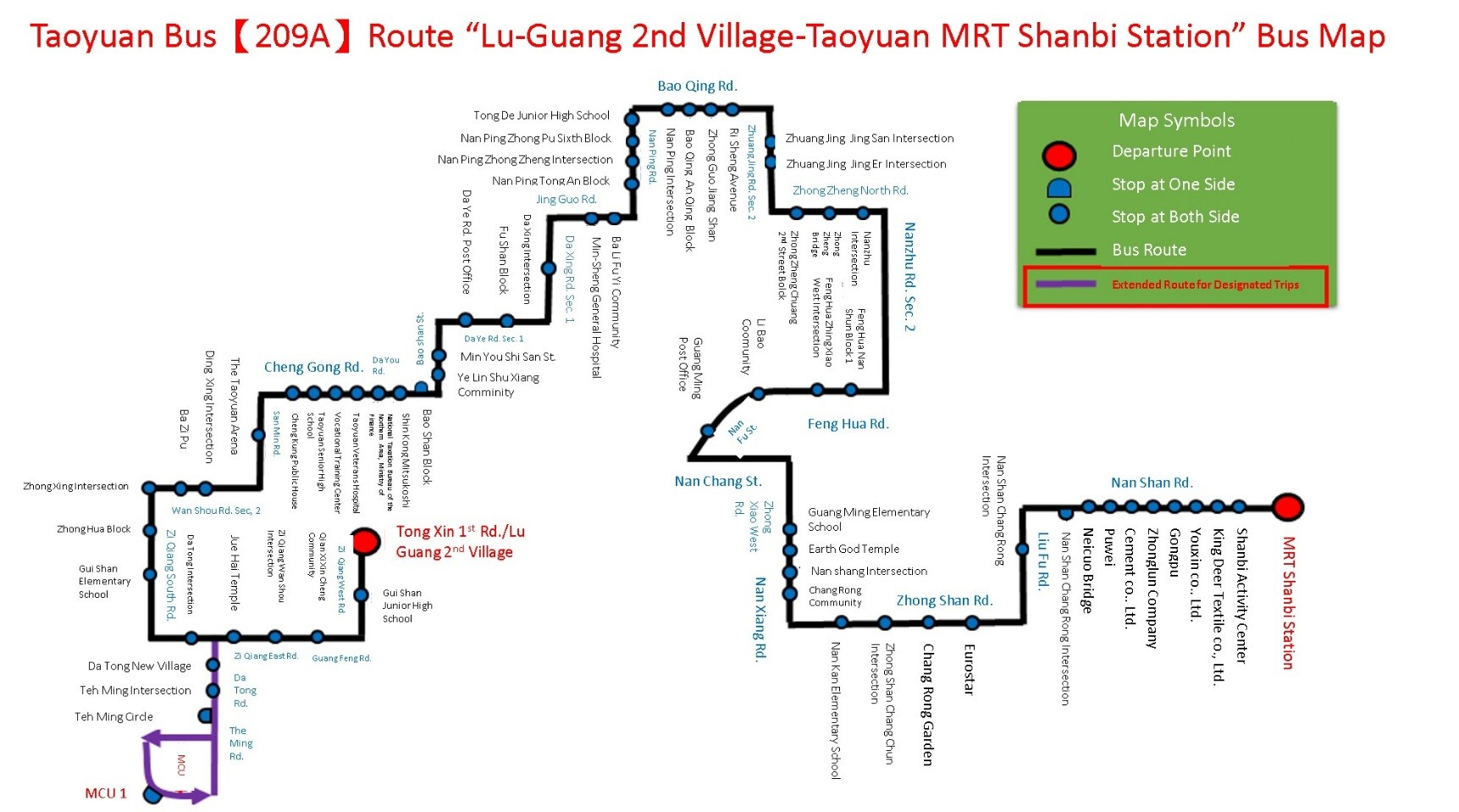 209A bus map